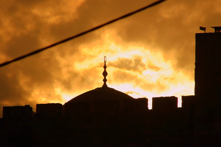 Sunset over Old Jerusalem