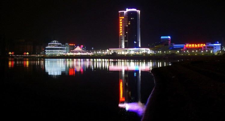 Night shot across the Kazanka River