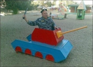 Hey, those tanks are for the children.