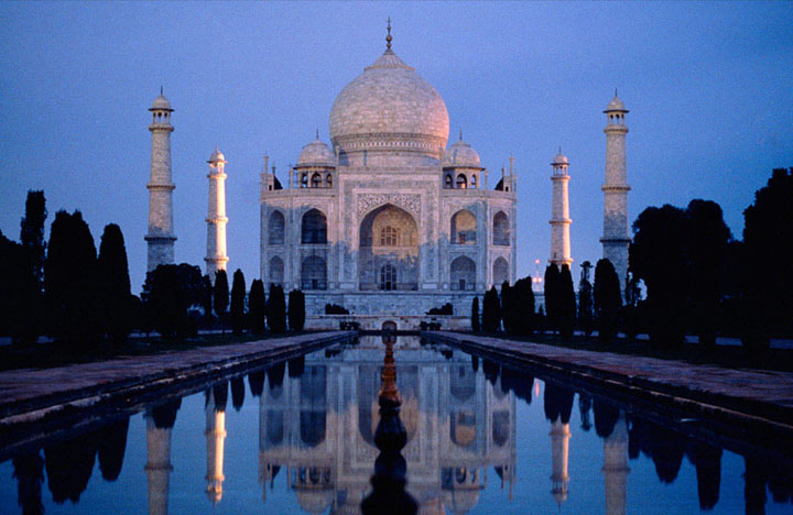 Taj Mahal in the moonlight