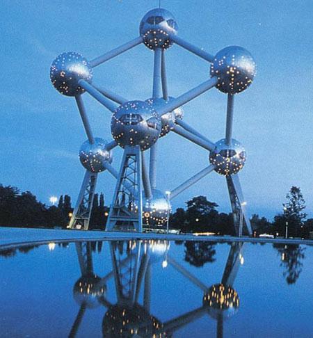Belgium's most famous architectural landmarks, the Atomium.