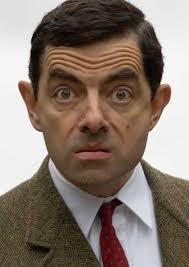 Mr. Bean shocked