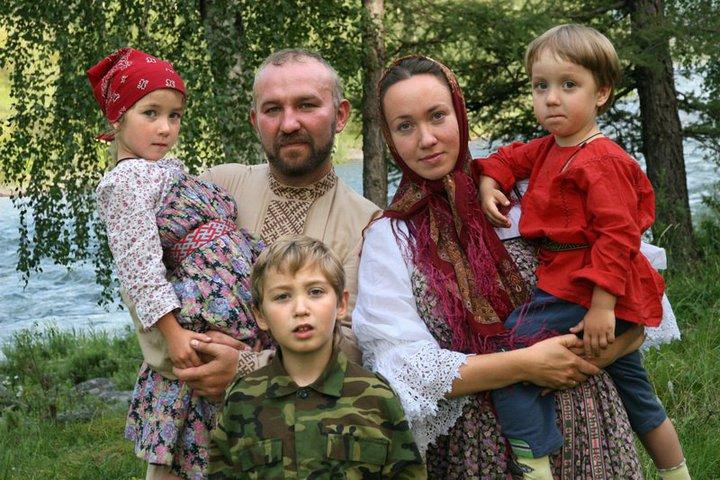 Cossack family in Novosibirsk