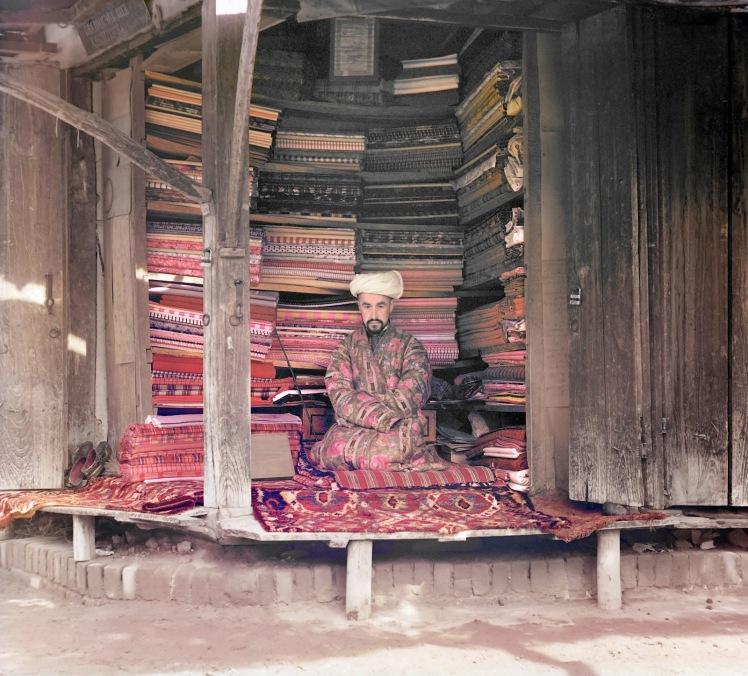 sergei-mikhailovich-prokudin-gorskii-old-color-pictures-of-russia-fabric-merchant-samarkand-ca-1905-1915