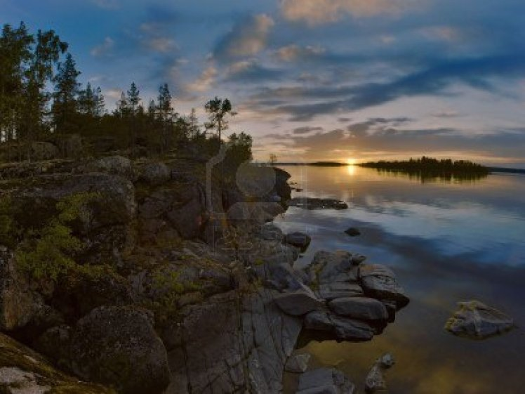 6297811-sunset-at-stony-shore-of-ladoga-lake-russia
