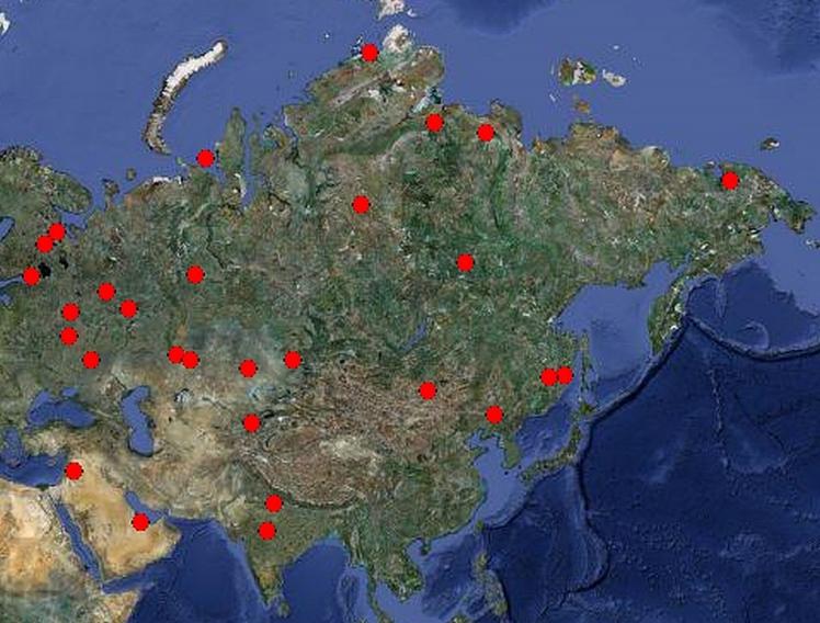 AsiaRussiaGoogleMap