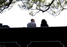 conversation on a bridge