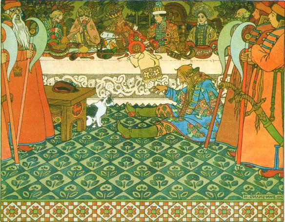 Ivan Bilibin - Illustration to the Tale of Tsar Saltan, 1905.