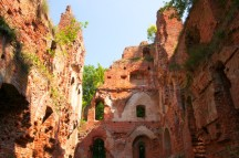 Balga - ruins of medieval castle of the Teutonic knights. Kalini