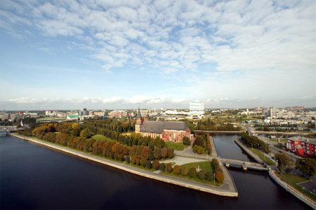 Kaliningrad. Immanuel Kants Grave Island