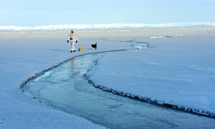 Sylvain Tesson by Lake Baikal