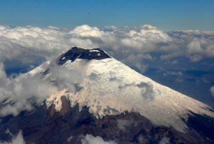 Nevado del Ruiz - one of snow capped peaks.