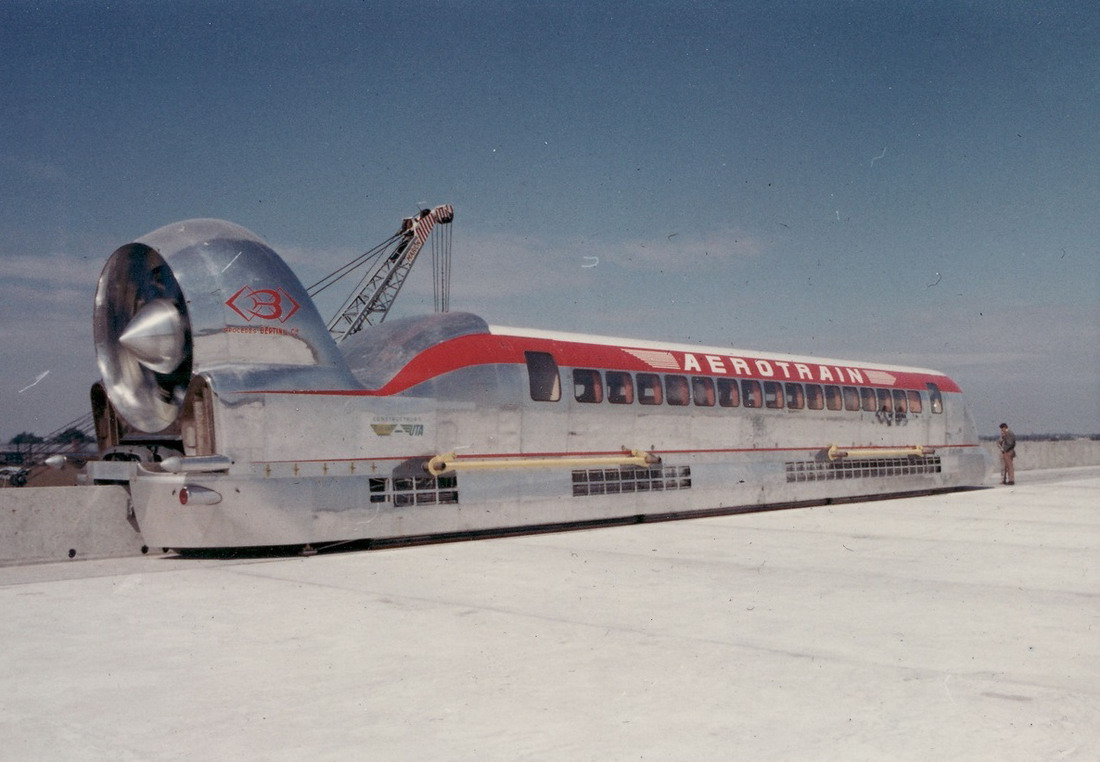 Jet Powered Monorail Train
