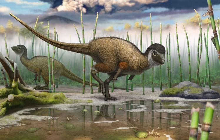 la-sci-sn-feathered-dinosaur-20140724