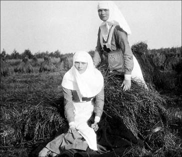 inside Olga and Tatiana as nurses