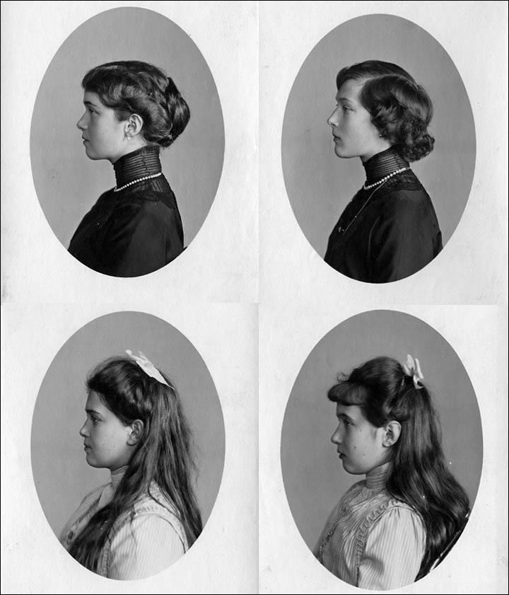 inside Olga, Tatiana, Maria, Anastasia
