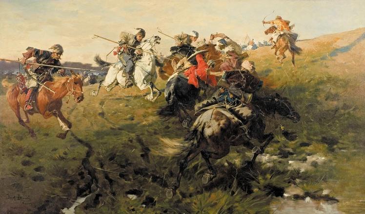 Józef_Brandt_-_Potyczka_Kozaków_z_Tatarami