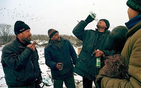 vodka in winter