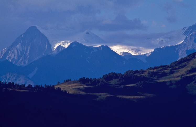 Mt. Belukha in the Altai mountains, Kazakhstan