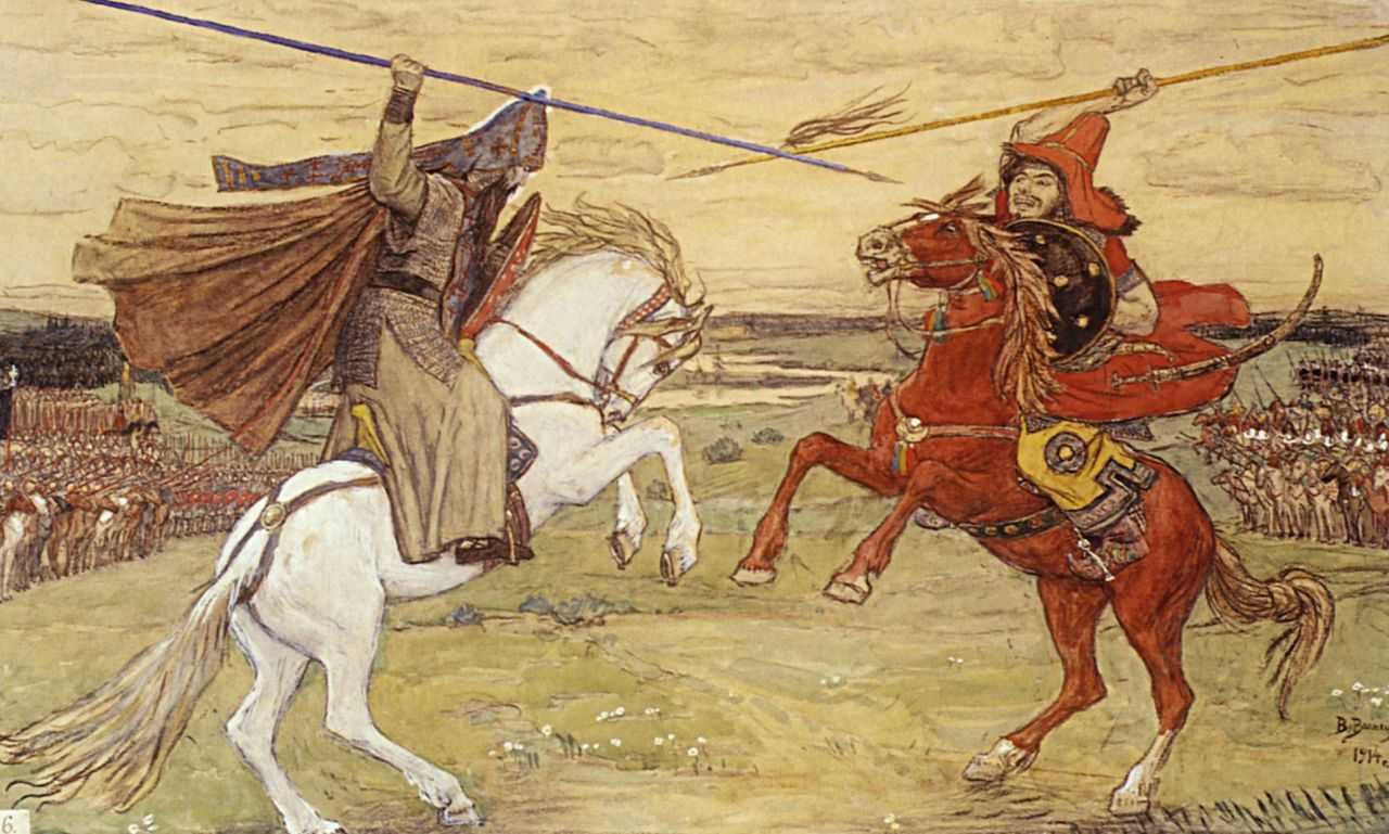 The duel on the Kulikovo field: description of the painting by M.I. Avilova 62