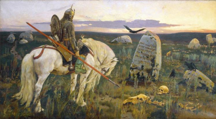 Warrior at the Crossroads, by Viktor Vasnetsov