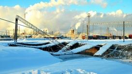 Earth sink under railway in Berezniki expands